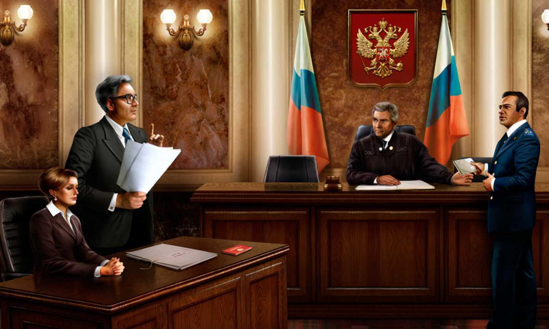 Слушание дела в суде смотрел него